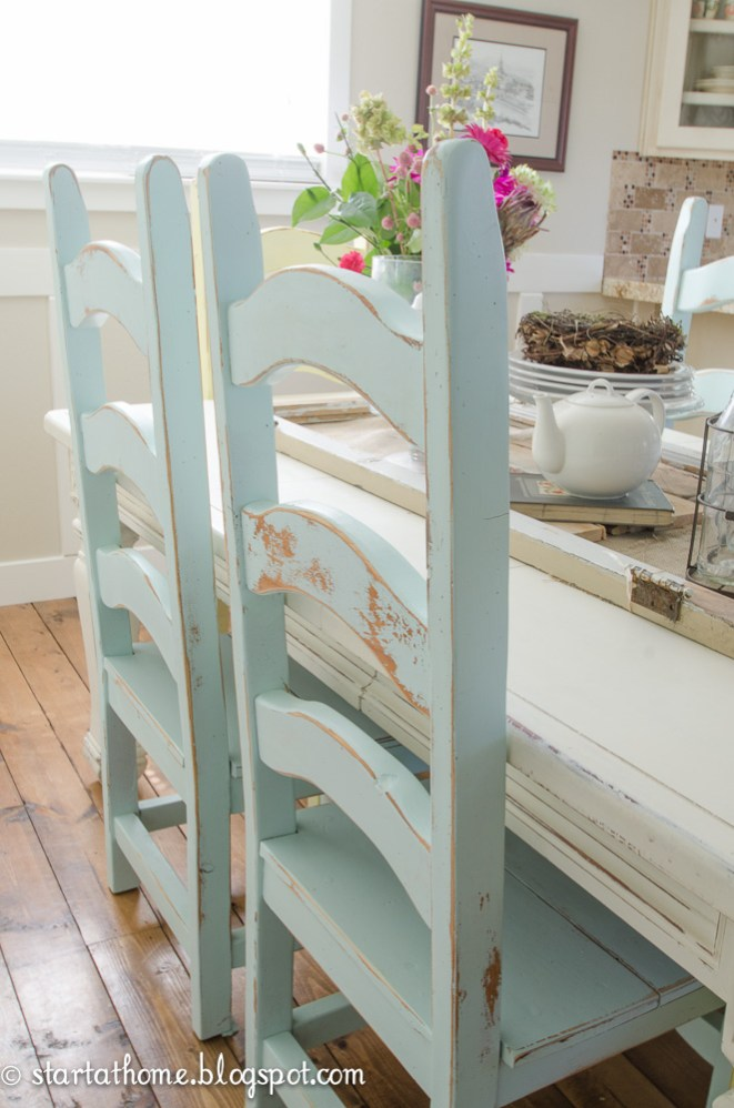 Style file duck egg blue house of hawkeshouse of hawkes for Duck egg dining room ideas