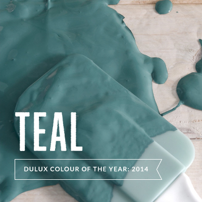 A touch of teal: Dulux color of the year 2014