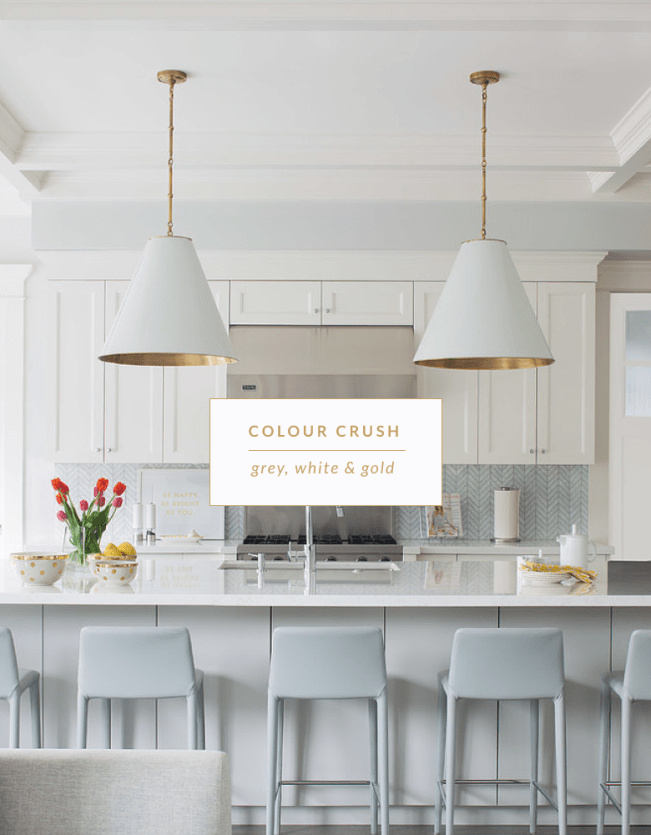 Colour crush: Grey, white & gold