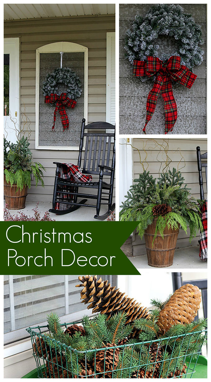Christmas Porch Decorations - House of Hawthornes on Patio Decorating Ideas With Lights  id=90236