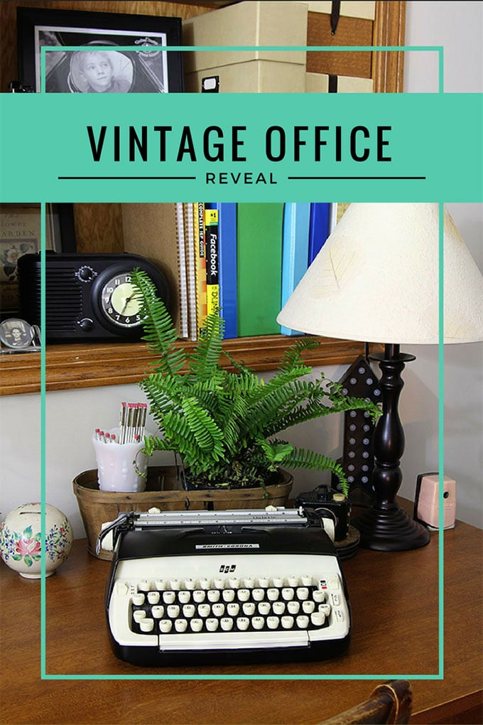 Home Office Decor  Vintage Style   House of Hawthornes Vintage Home Office   Home office ideas with an eclectic vintage design  style  An office