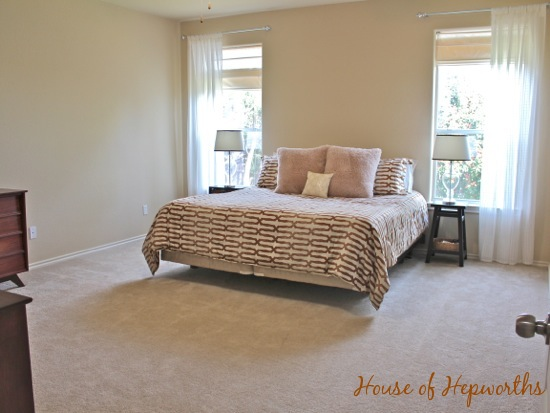 A mini master makeover (bedding & curtains in the master ... on Master Bedroom Curtains  id=19658