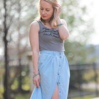 What I'm Wearing This Festival Season: Chambray Maxi Skirt