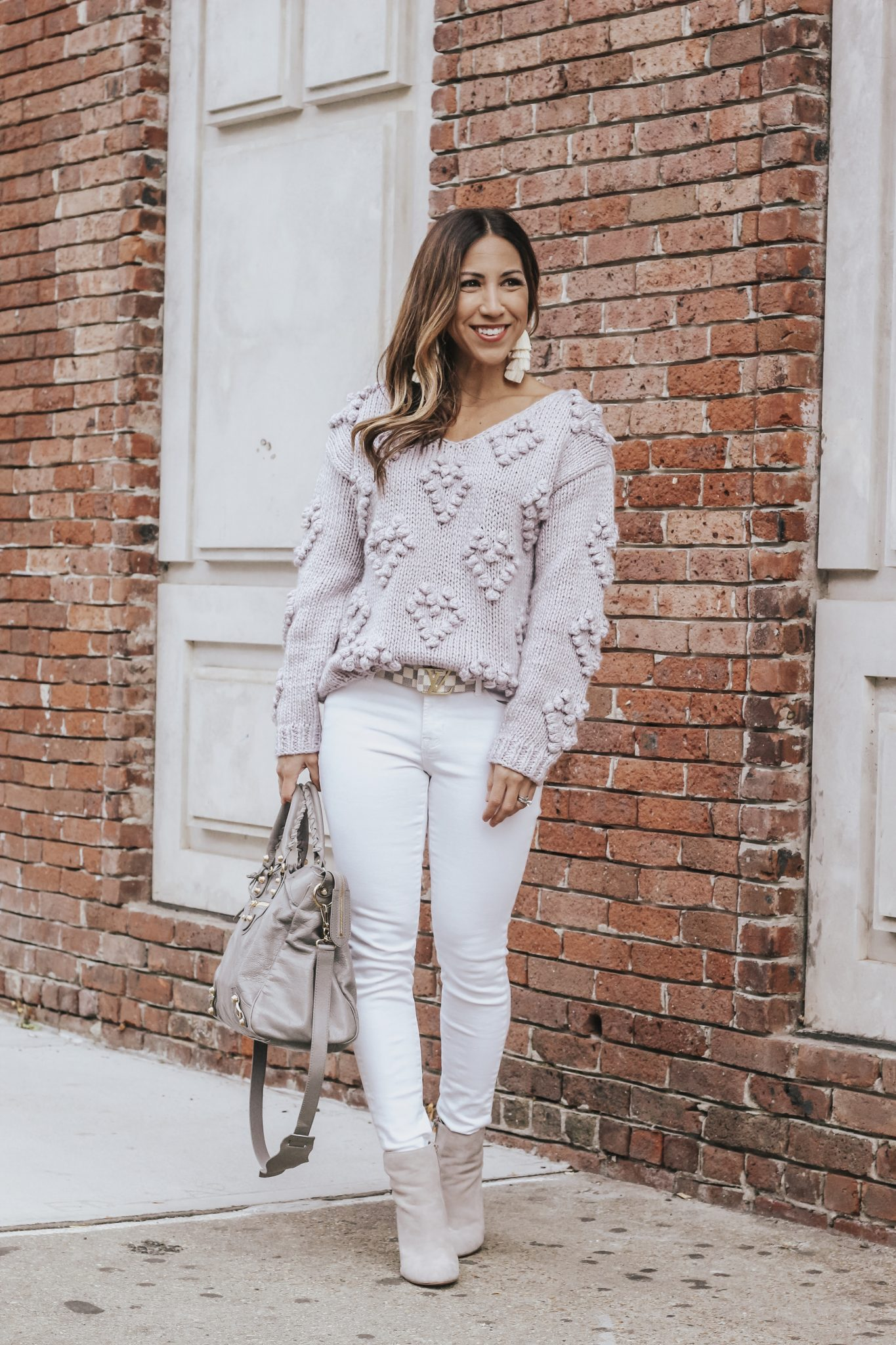 the prettiest lavender sweater from chicwish