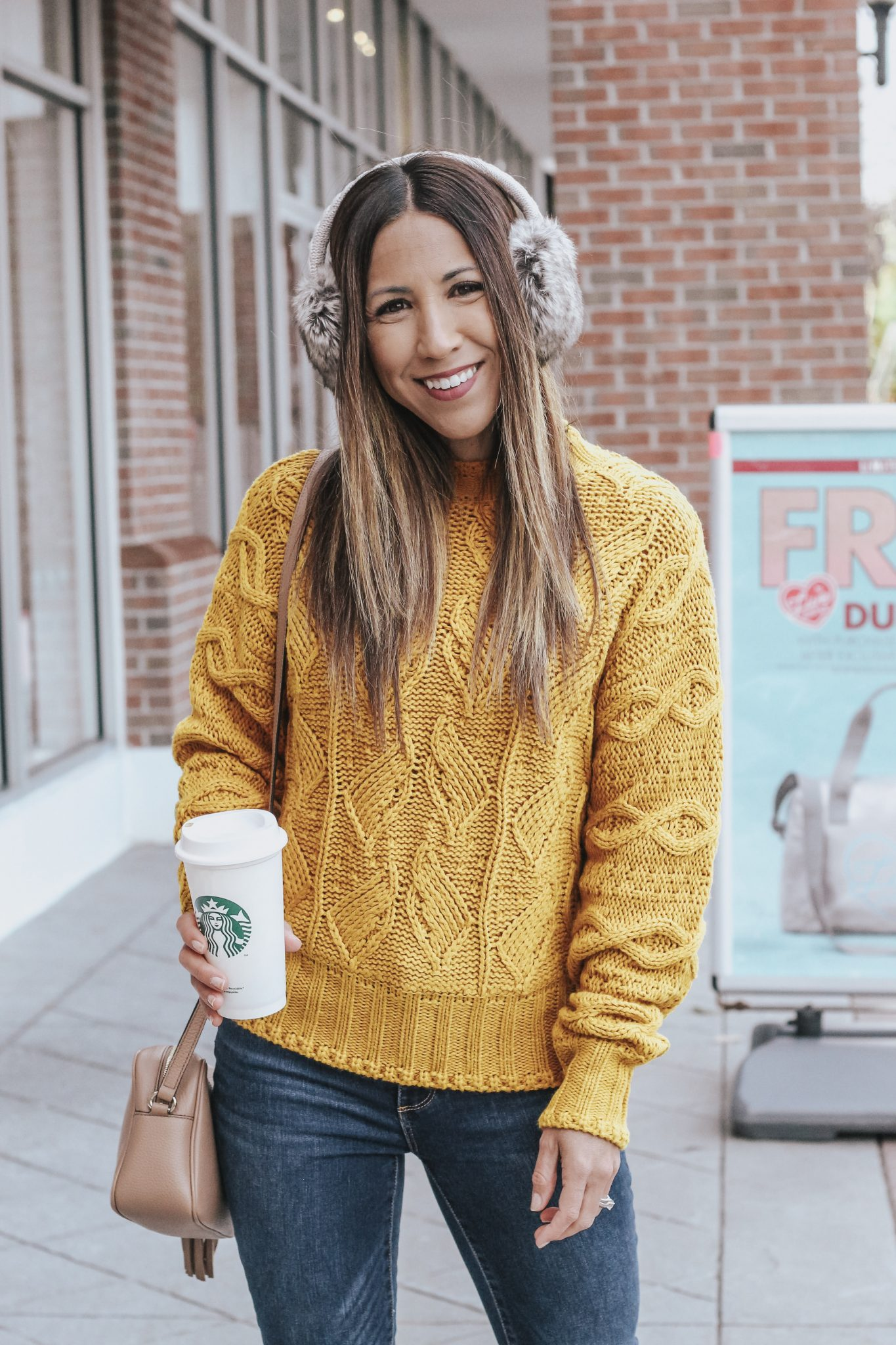 the cutest mustard sweater