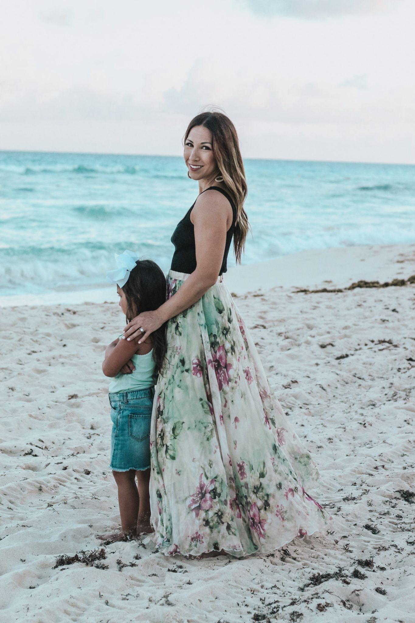 a floral maxi skirt perfect for your next vacation