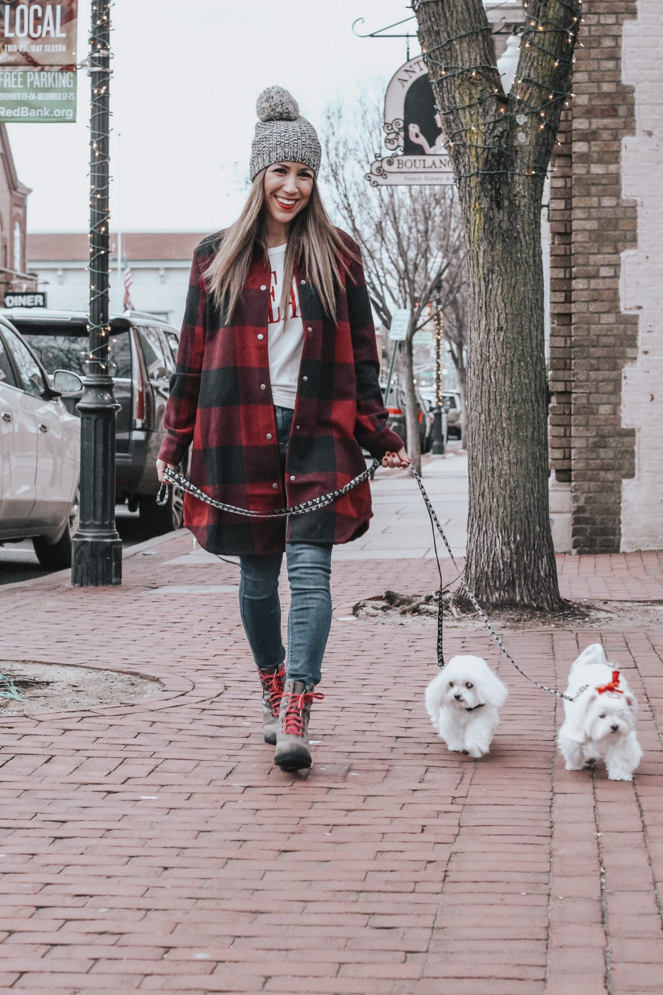 BUNDLED UP IN THIS EVEREVE RED PLAID COAT
