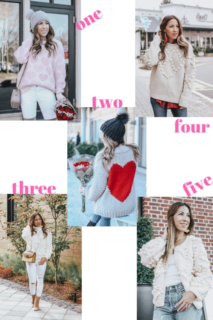 Valentine's Day Sweater featured by top US fashion blog House of Leo Blog