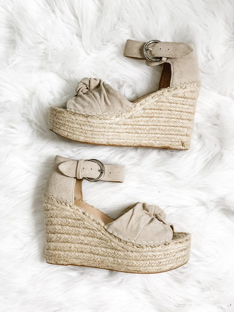Spring Shoe Reivew by top US fashion blog, House of Leo Blog: image of Marc Fisher Anty wedge espadrilles
