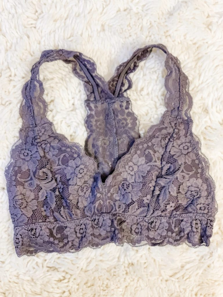 Amazon Haul by top US fashion blog, House of Leo Blog: image of Mae Racerback Lace Bralette