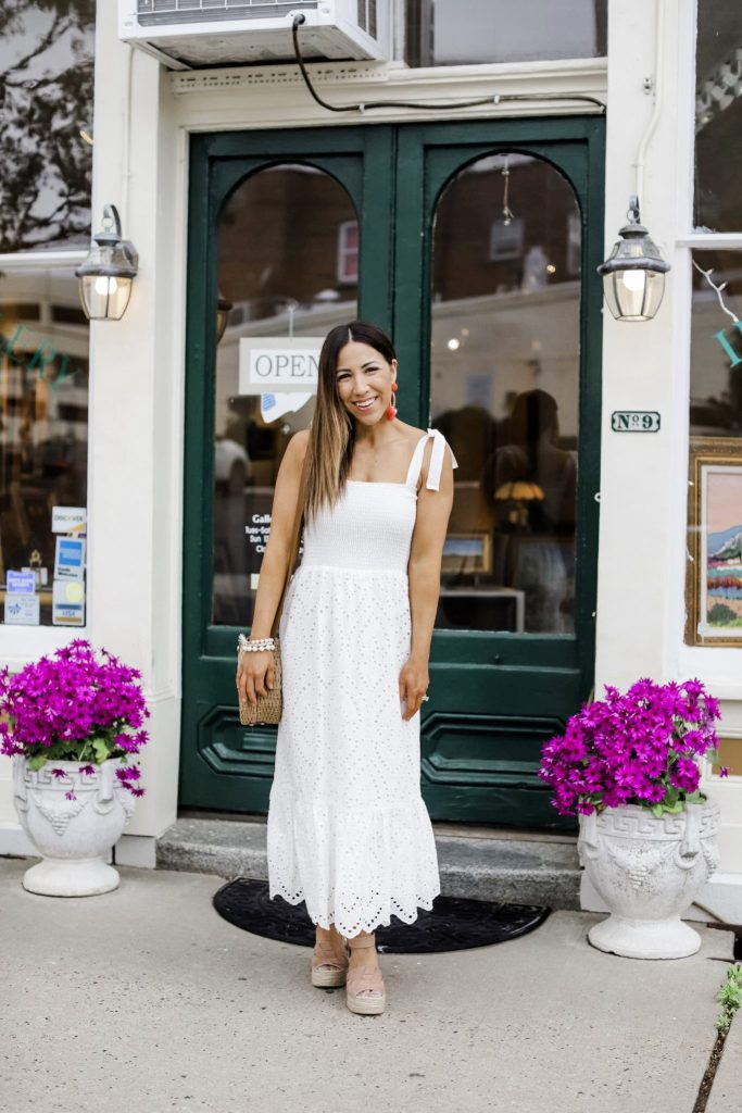 Massive Spring Instagram Roundup by top US fashion blog, House of Leo Blog: image of woman wearing white sundress from Morning Lavender