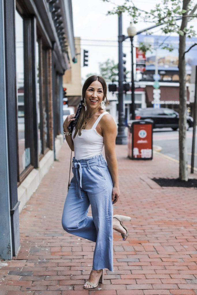 New York Denim Days Festival 2019 by top US fashion blog, House of Leo Blog: image of woman wearing Mavi jeans, SheIn white bodysuit