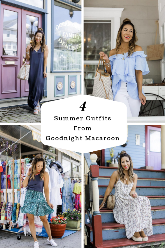 4 Summer Outfits From Goodnight Macaroon by top US fashion blog, House of Leo Blog