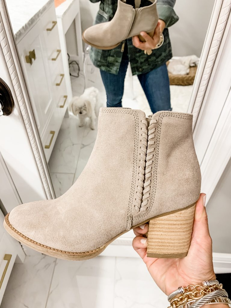 2019 Nordstrom Anniversary Sale First Day Try On by top US fashion blog, House of Leo Blog: image of blondo nina booties
