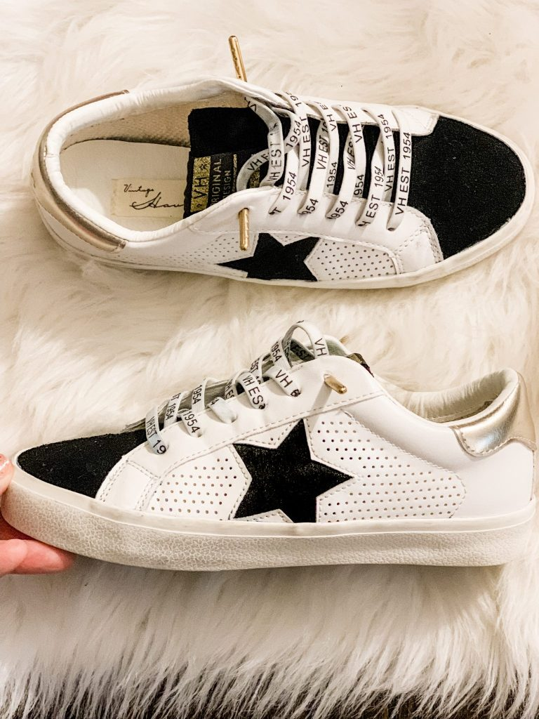 Amazon Haul October by top US fashion blog, House of Leo Blog: image of Vintage Havana Gadol star sneakers