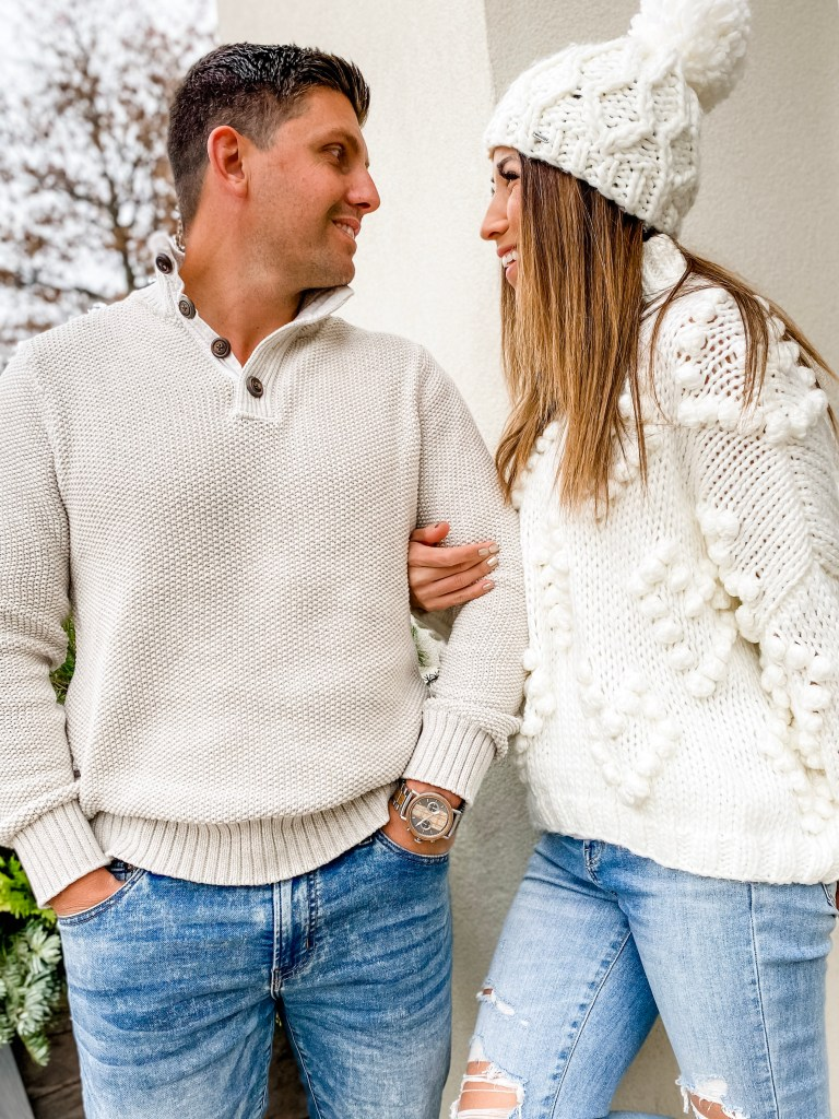 How Do You Choose The Best Men's Watch? by top US fashion blog, House of Leo Blog: image of couple in white sweaters
