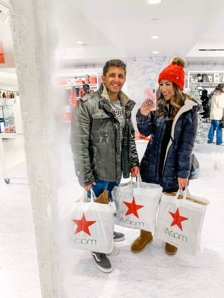 Black Friday Shopping Guide 2019 by top US fashion blog, House of Leo Blog: image of man and woman shopping at Macys