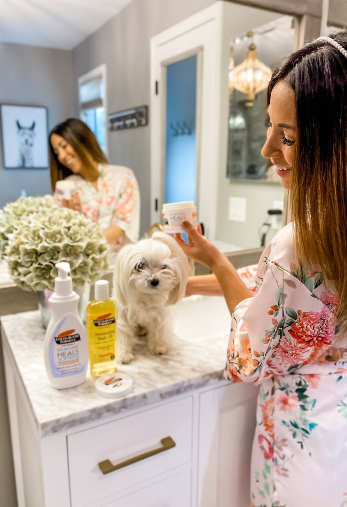 Palmer's Cocoa Butter Facts and Hacks by to US beauty blog, House of Leo Blog: image of using Palmer's Cocoa Butter to remove makeup