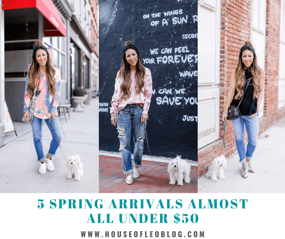 5 Spring Arrivals Almost All Under $50 by top US fashion blog, House of Leo Blog: spring arrivals