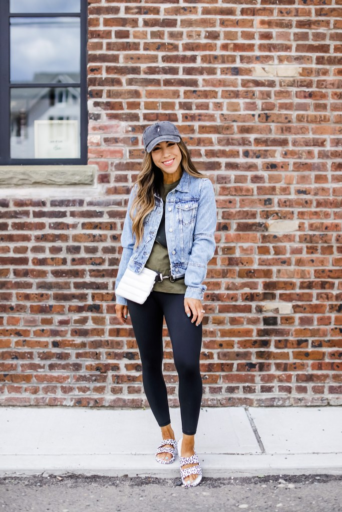 April Shopping Cart Reveal by top US fashion blog, House of Leo Blog: April shopping cart reveal, image of freedom moses sandals and free people denim jacket