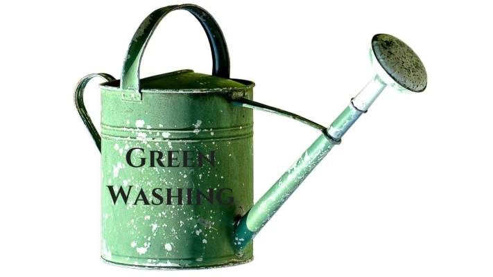 illustration of green washing