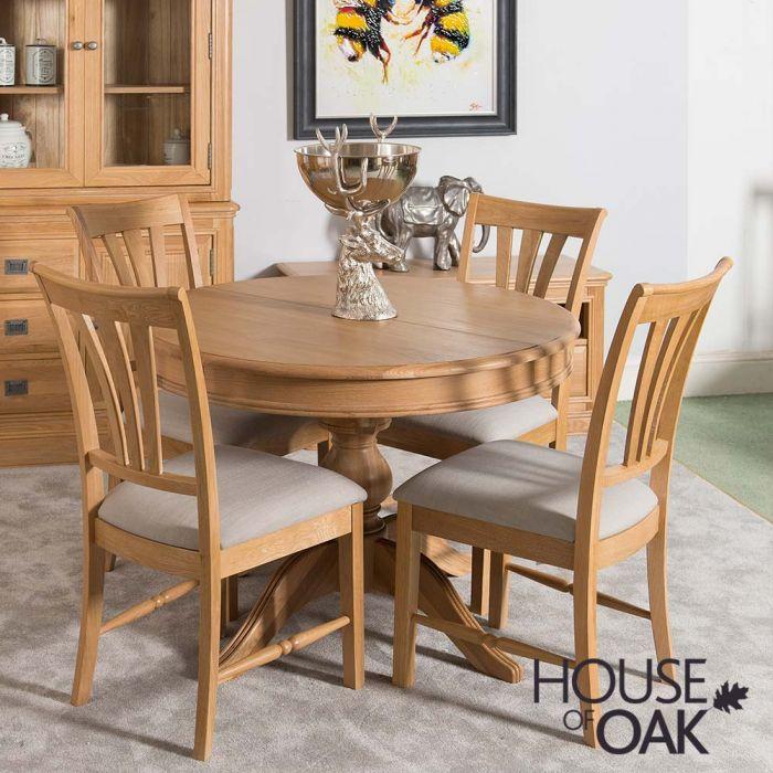 Lyon Oak Round Extending Table House Of Oak