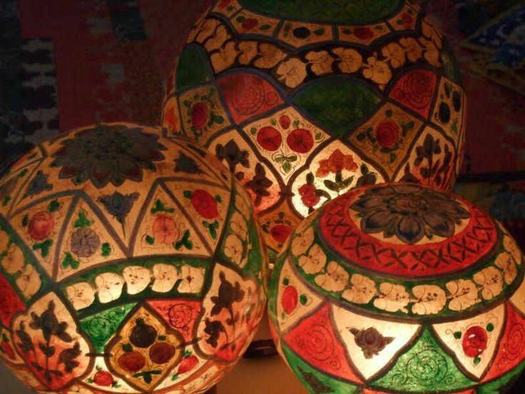 camel_skin_lamps_multan, multani_handwork, exports_from_pakistan, multani_handicraft