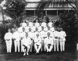 NZ_police_in_Samoa_during_Mau_uprising_ca_1930