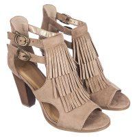 Nude Fringe sandal