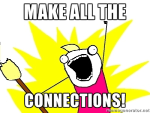 Image result for Make connections meme