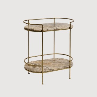 Brass and Marble Side Table