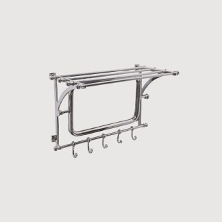 wall shelf, chrome wall hooks, libra