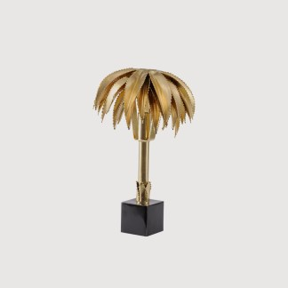 Brass Gold Palm Tree Lamp
