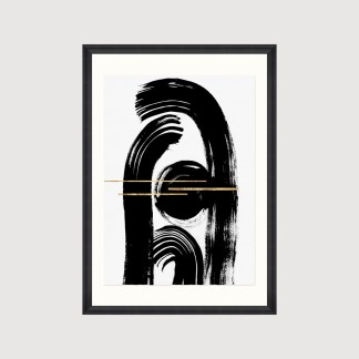 Graphic Art Print Framed