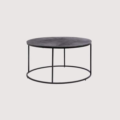 Black Round Coffee table Nordal