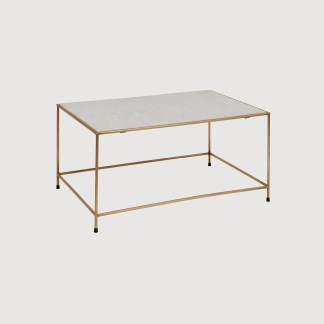 Brass and Marble Coffee Table Nordal