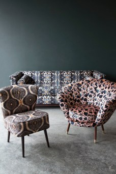House of Sloane, Anna Hayman,velvet sofa, cocktail chair