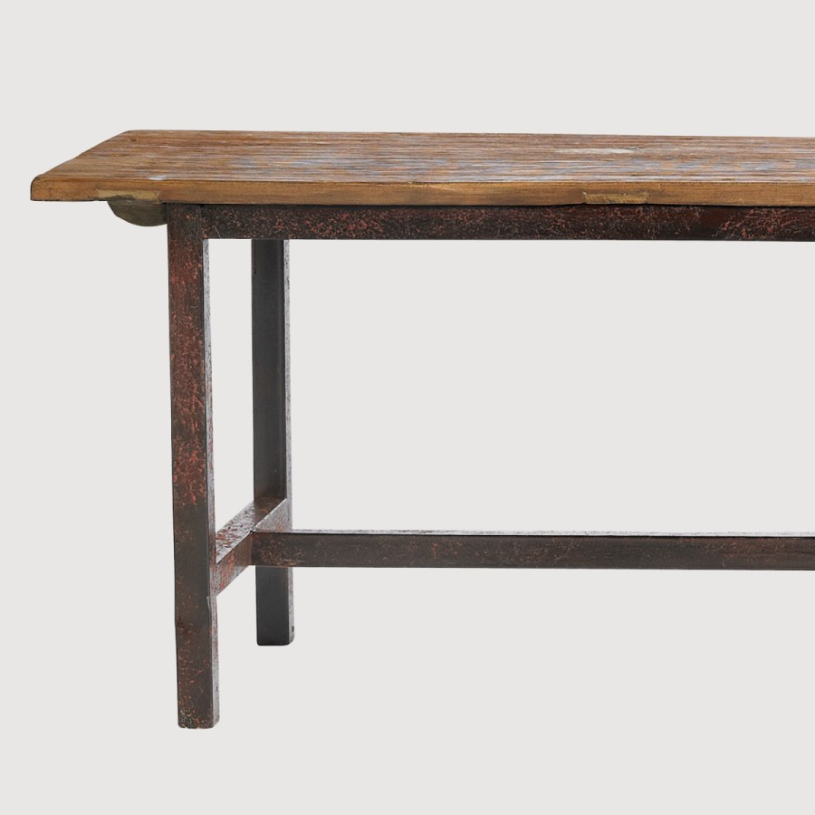Rough Pine Bench with Metal Legs – Small gallery image