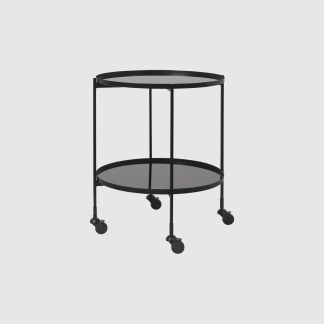 Gitte Black Mirror Bar Cart