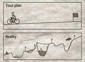 My plan this year vs. my life this year.