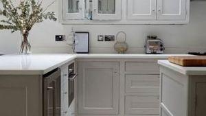 White Tile Kitchen Floor