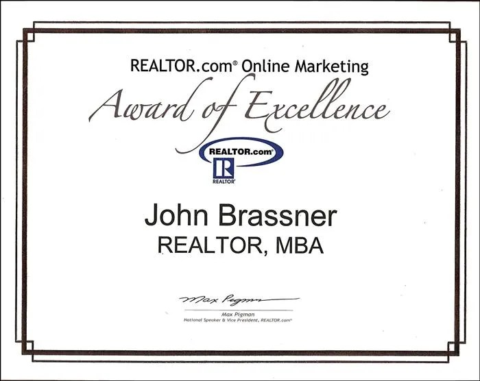 Realtor.com award of excellence Small