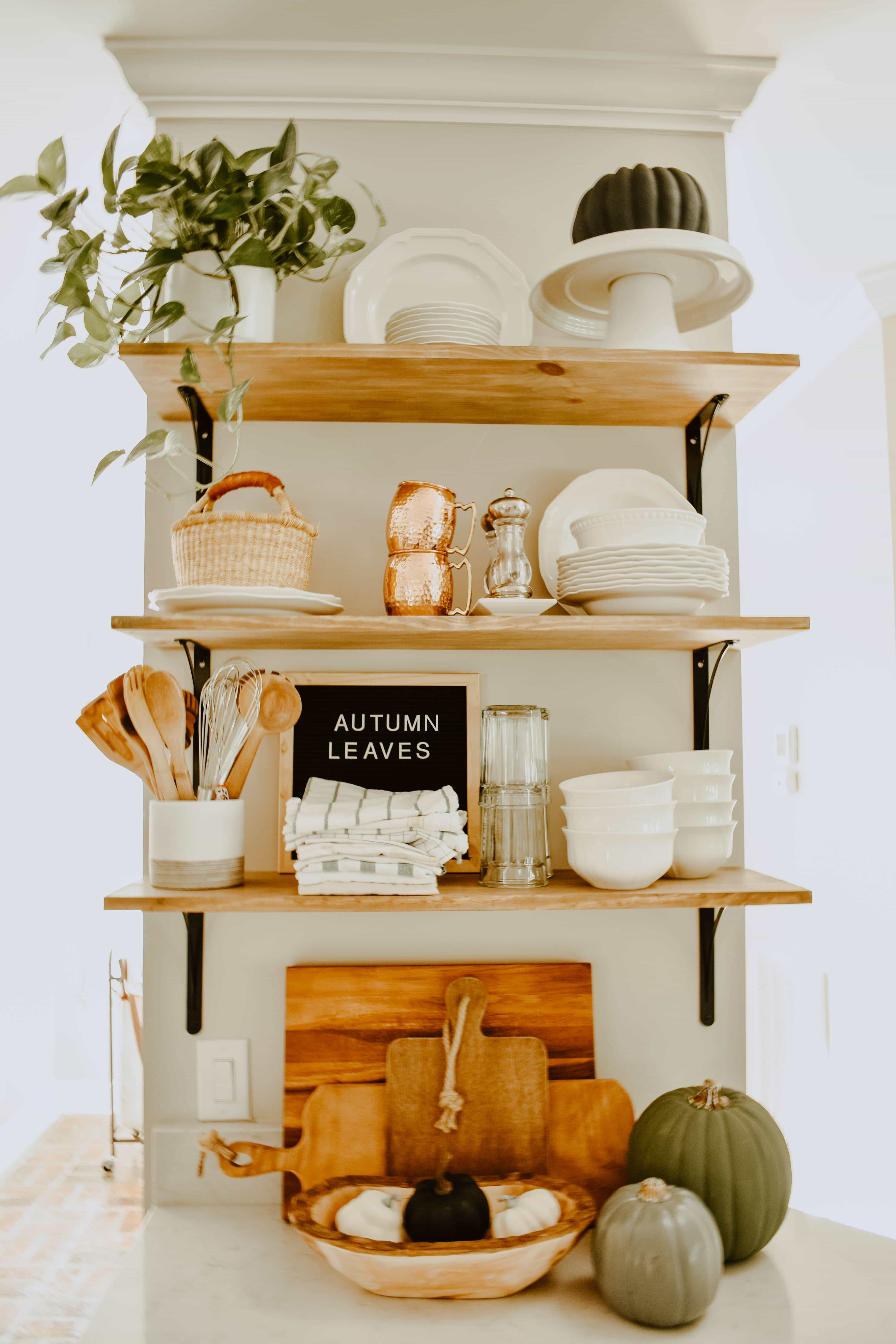 Adventures In Decorating Our Fall Kitchen: Minimalist Fall Kitchen Decor