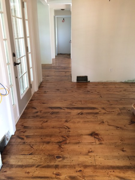 entryway inexpensive pine flooring