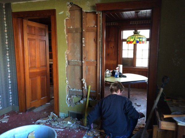 Removing wall for open concept - House on Winchester