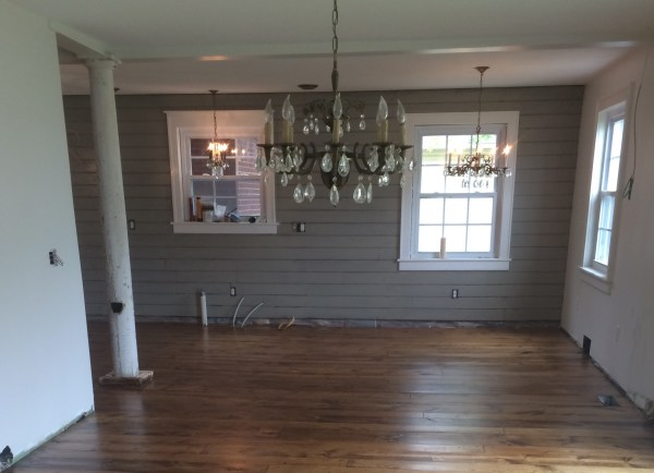 Chandeliers in dining room, breakfast nook, and above kitchen sink - House on Winchester
