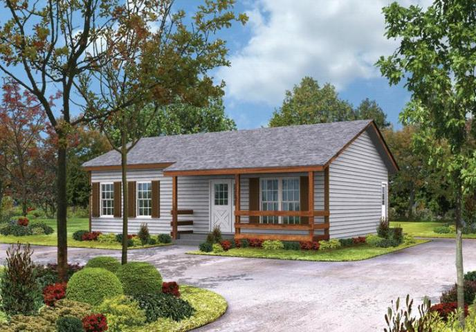 Country Plan  864 Square Feet  2 Bedrooms  1 Bathroom   5633 00009 photo
