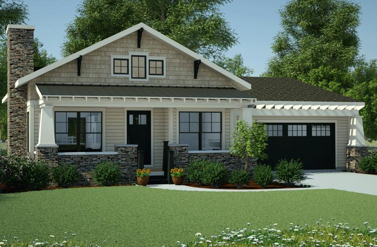 Bungalow Plan  1 378 Square Feet  3 Bedrooms  2 Bathrooms   7806 00013 photo