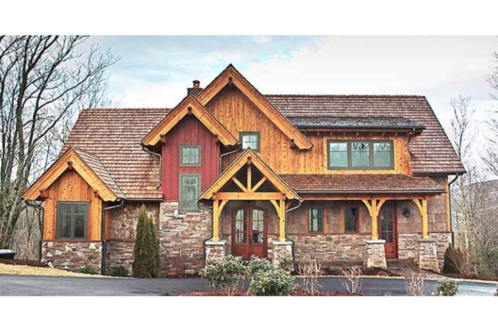 Mountain Rustic Plan  2 379 Square Feet  3 Bedrooms  2 5 Bathrooms     photo