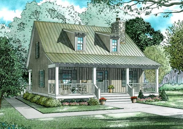 Cottage Plan  1 400 Square Feet  2 Bedrooms  2 Bathrooms   110 00311 photo